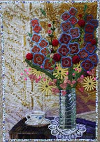 Afternoon, a quilted doily wall hanging by Suzann Thompson