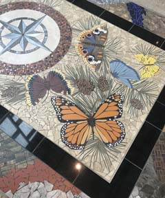 Butterfly Mosaic by the Outlaws, Lost Pines Art Center, Bastrop, Texas