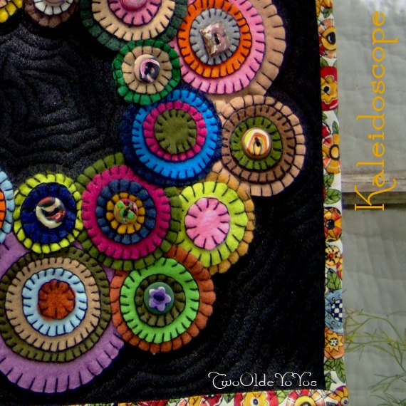 Felt penny wreath wall hanging