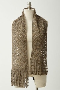 Picot Fringe Scarf by Suzann Thompson