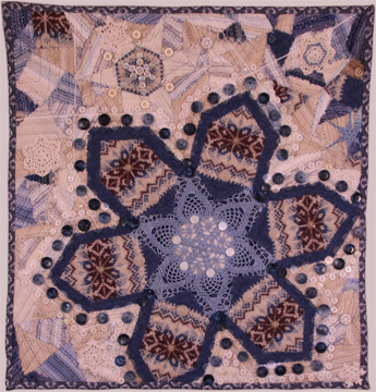 Winter Blues, a TextileFusion snowflake wall hanging